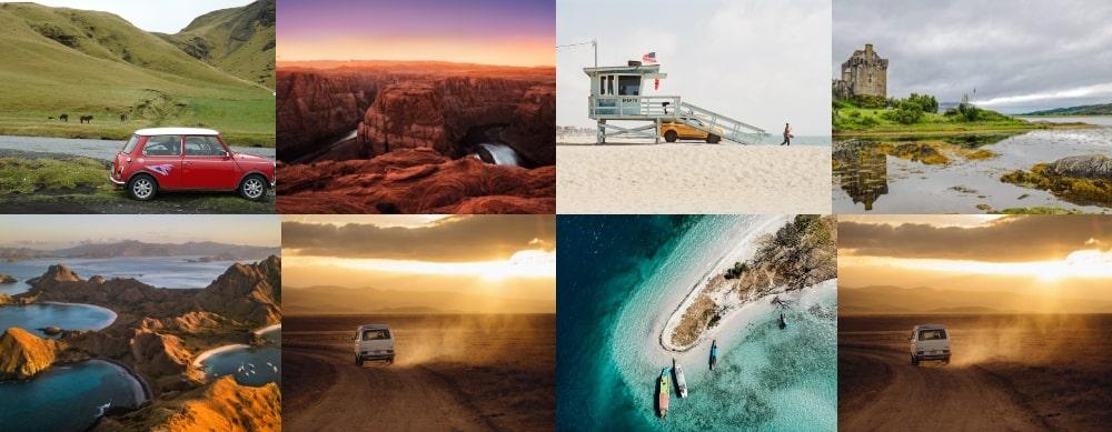 Mosaïque de photos de voyage n°3